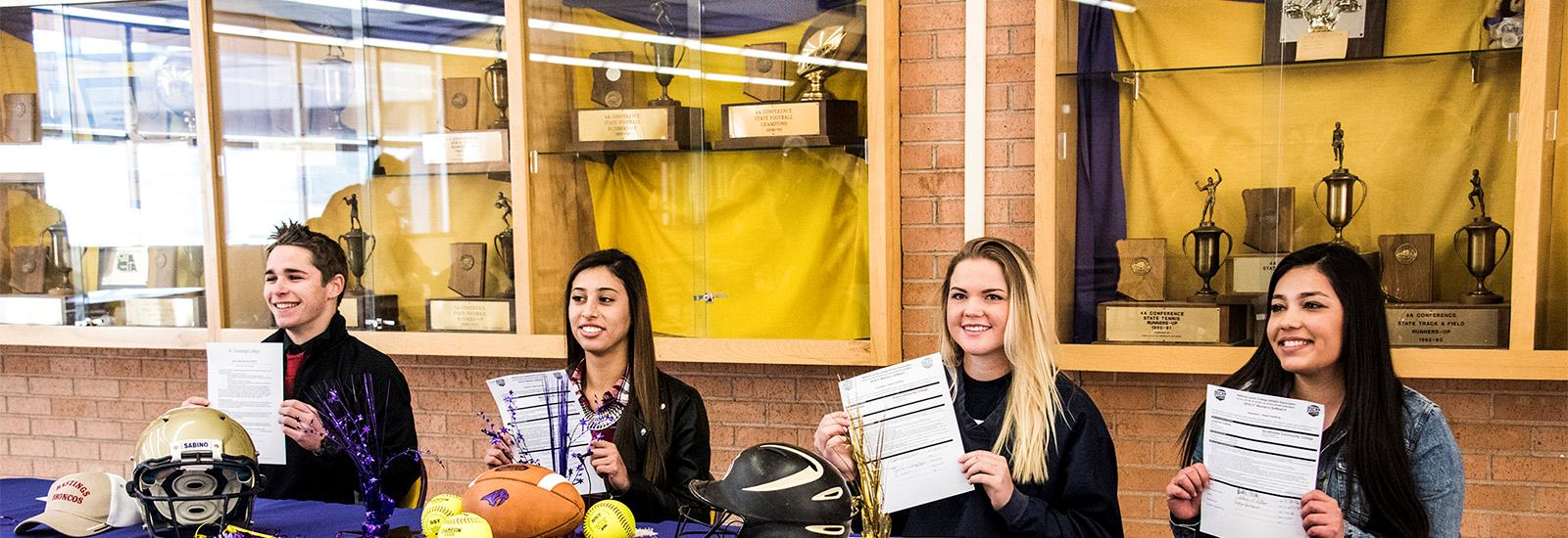 Many students select Sabino because of its outstanding athletics programS.