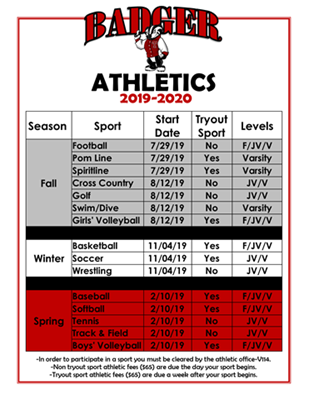 THMS Athletic Seasons 2