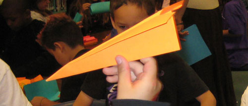 image of origami airplane