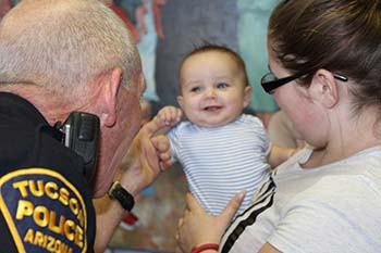 Photo of police and baby