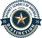 Magnet Schools of America award logo for School of Distinction for 2020