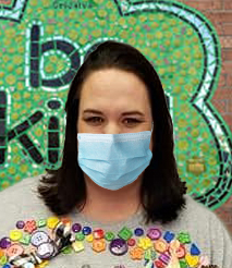 Photo of Principal Megan Chavez wearing protective face covering.