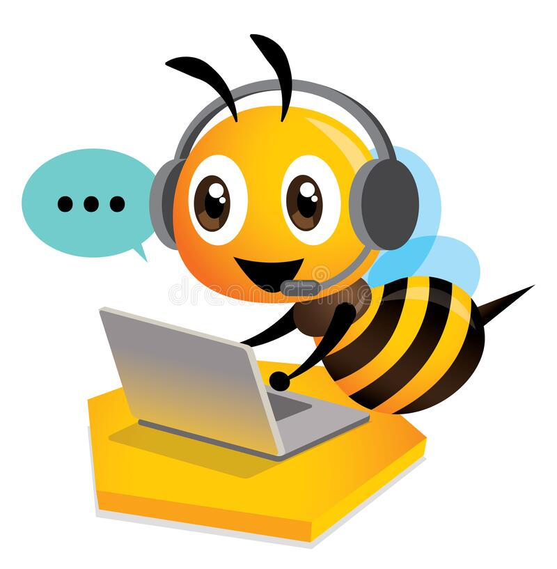 Bee on the computer