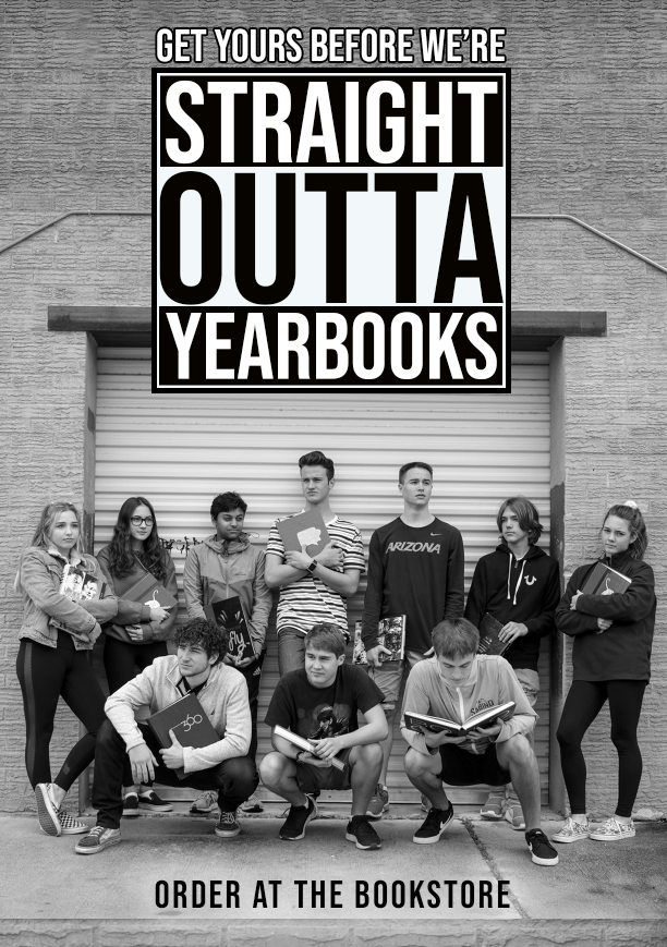 Order your yearbook $80 at the bookstore before they're sold out.