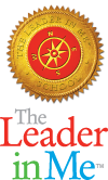 "The Leader In Me logo with the text, ""The Leader In Me."""
